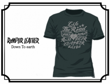 RL LIFE OF THE ROAD  Tshirt #RLLOTR-T001-BLACK
