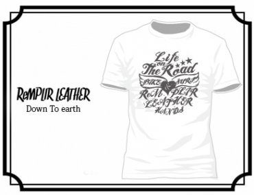 RL LIFE OF THE ROAD Tshirt #RLLOTR-T001-WHITE