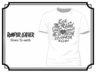 RL LIFE OF THE ROAD Tshirt #RLLOTR-T001-WHITE