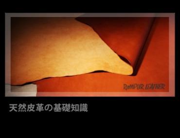 ✱ 天然皮革の基礎知識 | ReMPLIR LEATHER | ランプリール・レザー