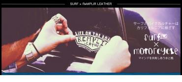 """サーフとバイクカルチャーはカリフォルニアに根ざす""""ReMPLIR LEATHER・限定デザインステッカー"""""""